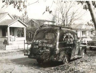 One of our first service vehicles.