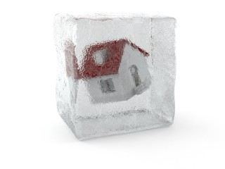 house in ice